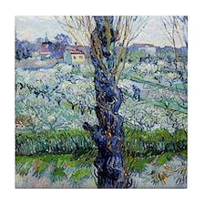 Van Gogh Flowering Orchards Tile Coaster