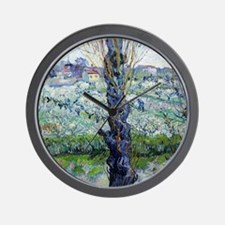 Van Gogh Flowering Orchards Wall Clock