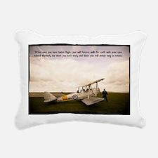Tiger Moth Getting ready Rectangular Canvas Pillow