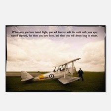 Tiger Moth Getting ready  Postcards (Package of 8)