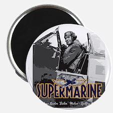 Supermarine Spitfire Pilot Art on Magnet