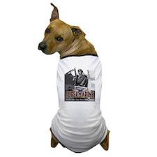 Supermarine Spitfire Pilot Art on Dog T-Shirt