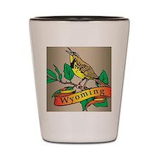 Wyoming Meadowlark Shot Glass