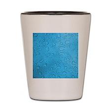 Blue Raindrops Shot Glass