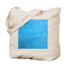 Blue Raindrops Tote Bag