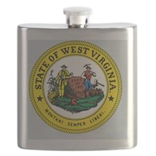 West Virginia State Seal Flask