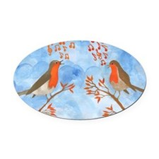 Robin Singing Competition Oval Car Magnet