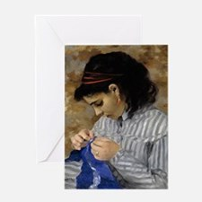 Lise Sewing Greeting Card
