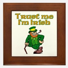 Trust Me I'm Irish Framed Tile