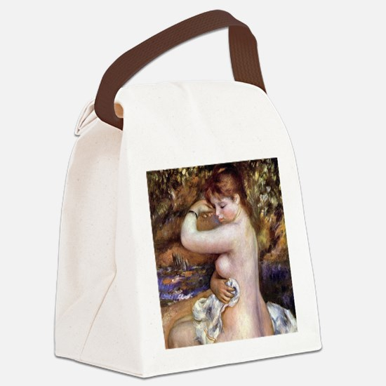 Pierre-Auguste Renoir After The B Canvas Lunch Bag