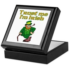 Trust Me I'm Irish Keepsake Box
