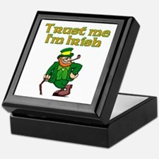 Trust Me I'm Irish Keepsake Box