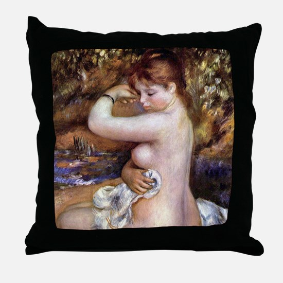 Pierre-Auguste Renoir After The Bath Throw Pillow
