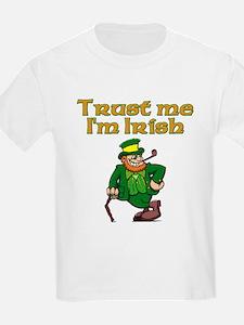 Trust Me I'm Irish Kids T-Shirt