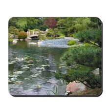 Japanese Garden View to a Bridge Mousepad