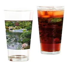 Japanese Garden View to a Bridge Drinking Glass