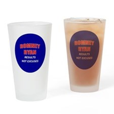 Romney Ryan - Results Not Excuses. Drinking Glass