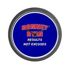 Romney Ryan - Results Not Excuses. Wall Clock