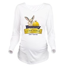 Bunny Concierge Long Sleeve Maternity T-Shirt