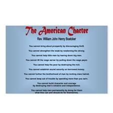 The American Charter or T Postcards (Package of 8)