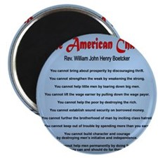 The American Charter or The Decalogue Magnet