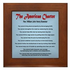 The American Charter or The Decalogue Framed Tile