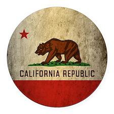 Grunge California Round Car Magnet