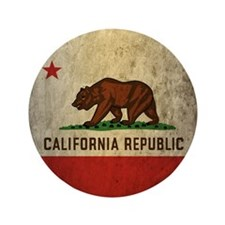"Grunge California 3.5"" Button"