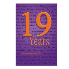 19 Year Recovery Birthday Postcards (Package of 8)