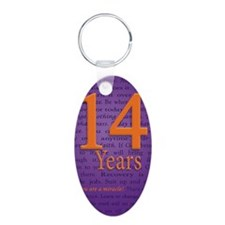 14 Year Recovery Birthday - Keychains