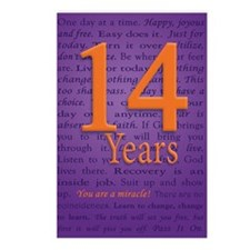 14 Year Recovery Birthday Postcards (Package of 8)