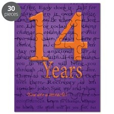 14 Year Recovery Birthday - You are a Mirac Puzzle