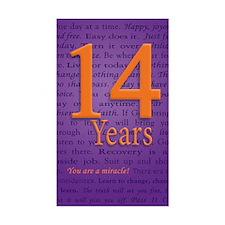 14 Year Recovery Birthday - Yo Decal