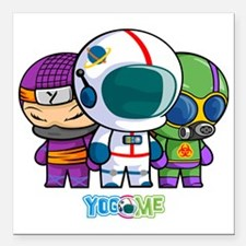 """Little Heroes! Square Car Magnet 3"""" x 3"""""""