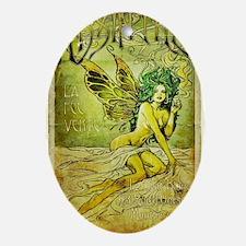 Vintage_Chick La Fee Vert Oval Ornament