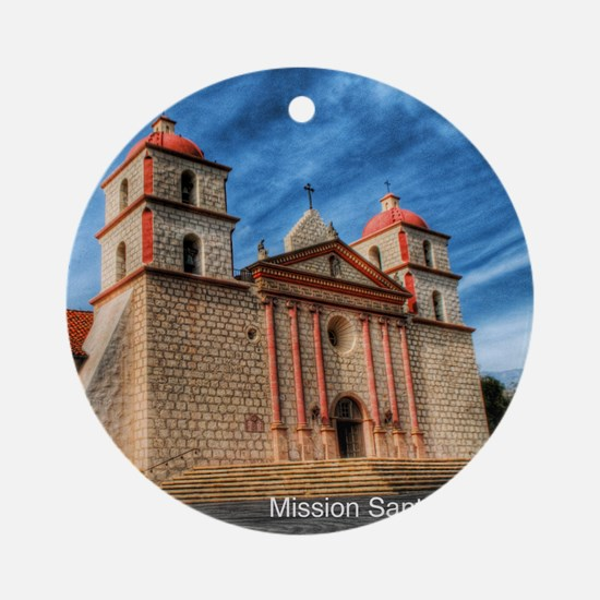 Mission Santa Barbara Round Ornament