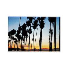 Sunset in Santa Barbara Rectangle Magnet