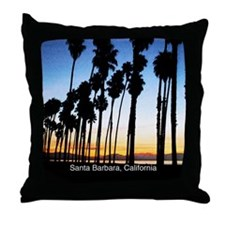 Sunset in Santa Barbara Throw Pillow