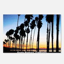 Sunset in Santa Barbara Postcards (Package of 8)