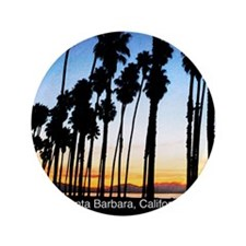 """Sunset in Santa Barbara 3.5"""" Button"""