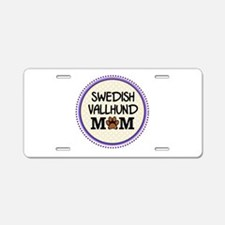 Swedish Vallhund Dog Mom Aluminum License Plate