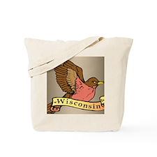 Wisconsin Robin Tote Bag
