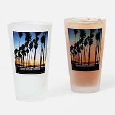 Sunset in Santa Barbara Drinking Glass