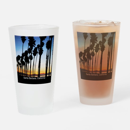 Sunset in Santa Barbara Drinking Glass
