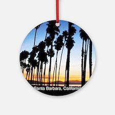 Sunset in Santa Barbara Round Ornament
