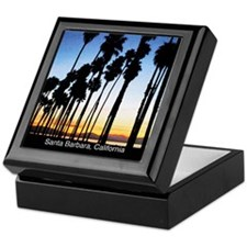 Sunset in Santa Barbara Keepsake Box