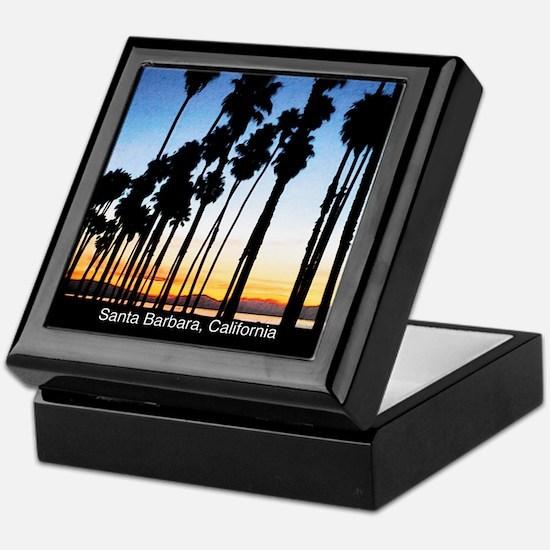 Sunset in Santa Barbara Keepsake Box