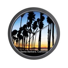 Sunset in Santa Barbara Wall Clock