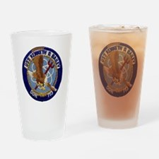 uss kenneth d. bailey ddr patch tra Drinking Glass