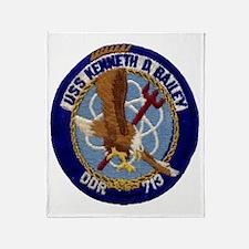 uss kenneth d. bailey ddr patch tran Throw Blanket